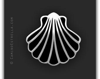 Shell Necklace silver black Camino de Santiago