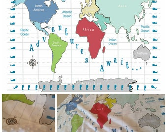 World map blanket etsy gumiabroncs Gallery