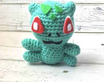 Crochet Pokemon | Pokemon plush | Pokemon go | Bulbasaur plush | Pokemon amigurumi | Crochet bulbasaur | bulbasaur amigurumi