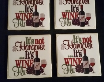 Wineflu Coasters- Set of four