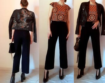 ST JOHN Kitted Thic Cropped Pants Culottes