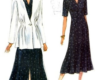 Vogue 8699 Charming Jacket & Dress 1993 / SZ8-12 UNCUT