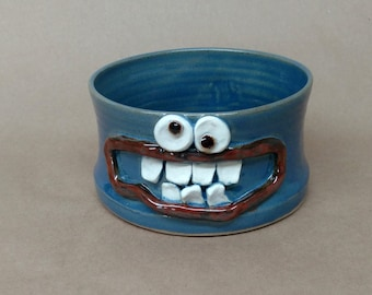 Handmade Pottery Doggy Dish. Microwave and Dishwasher Safe UgChug Bowl by NelsonStudio. Handcrafted Wheel-Thrown Pottery