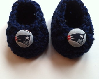 New England Patriots baby booties, baby booties, infant shoes, crochet baby booties, booties for baby, crochet baby shoes