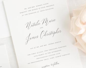 Natalie Wedding Invitations - Sample