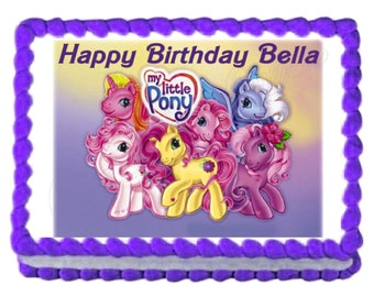 My Little Pony Classic party decoration edible cake image frosting sheet