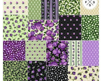 Florentina Rose~ Floral Charm Pack 42, 5In Cotton Squares - Kaufman