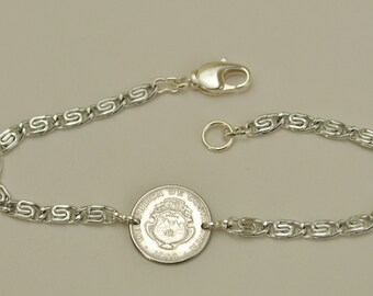 Costa Rica Coin Bracelet