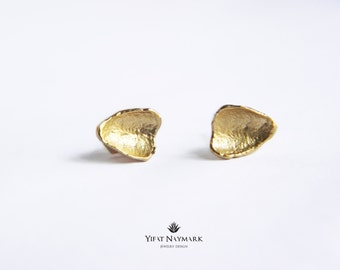 Organic Gold Stud Earrings,Gold Post Earrings,Simple Gold Stud Earrings,Gold Nugget Earrings,Small Gold Studs,Minimalist Gold Post Earrings