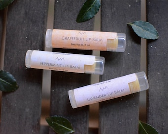 Lip Balm - Grapefruit, Lavender, Peppermint | Skin Care | All Natural Spa Products