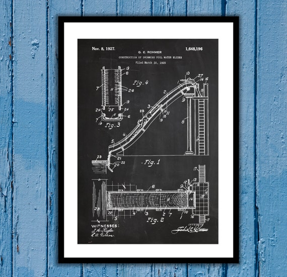 Water slide patent water slide poster water slide blueprint malvernweather