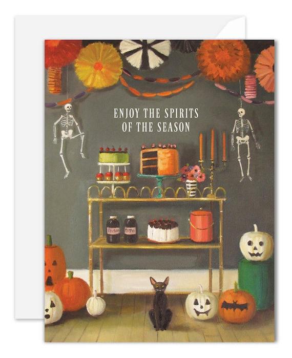 Enjoy The Spirits Of The Season. Halloween Card. SKU JH1120