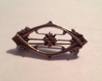 Art Neauveau Style Sterling Silver Pin