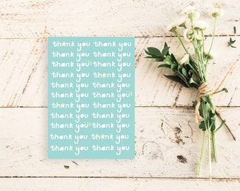 Thank You Thank You Thank You Greetings Card