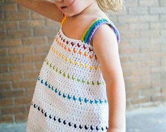 Rainbow Crochet Dress Pattern No. 8