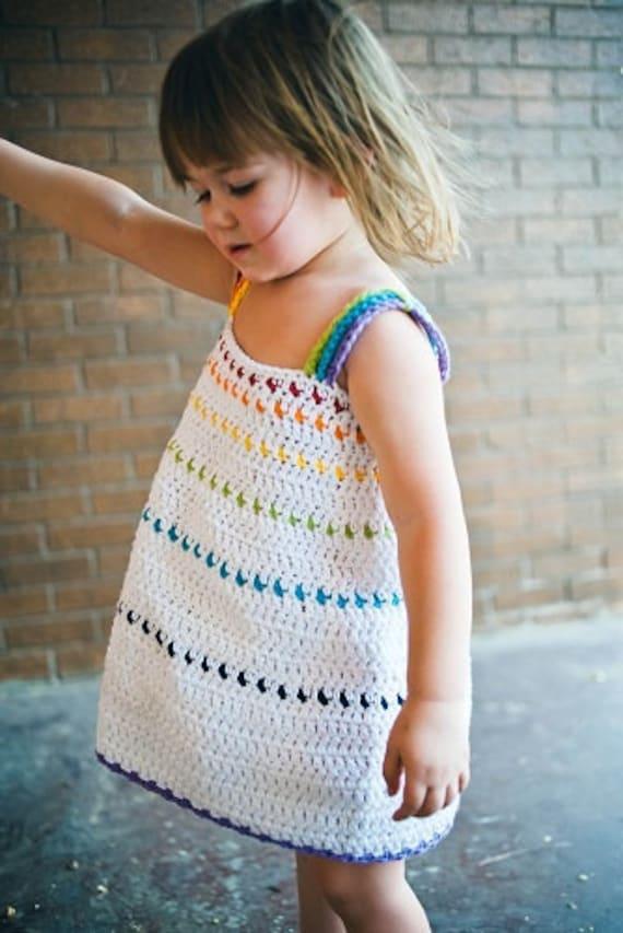 Toddler crochet dress pattern no 8 dt1010fo