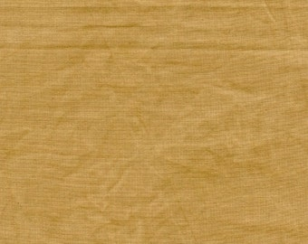 New Aged Muslin from Marcus Fabrics - Full or Half Yard Old Caramel Distressed Parchment Look Blender - 7694-0139