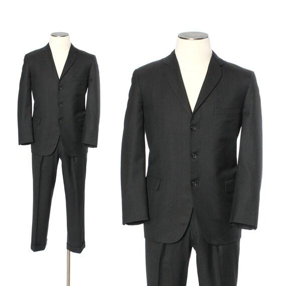 Richard Edwards Suit/ Men's Vintage 2 Piece Suit/ c. 1995/ Brown Pinstripe Suit/ Three Button Suit/ 1990s menswear Tv7OKny