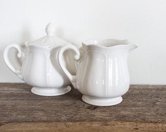 Ironestone Creamer and Sugar Dish (set)