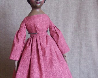Clarise, cloth and clay art doll by Jan Conwell