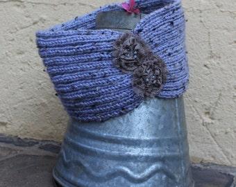 Knitted headband , Boho ear warmer , Hair accessories , Hippie hairband , Stylish ear warmer , Vintage style hairband ,  Head turban.