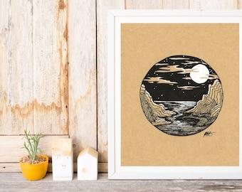 Ocean Cliffs Print