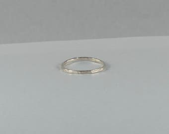 Recycled Hammered Sterling Silver Stacking Ring. Stacking ring. Handmade in Canada. - eco-friendly - fair trade