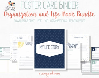 Foster Care Binder Bundle . 160+ Pages! .  8.5x11 . PRINTABLE . DIGITAL DOWNLOAD . You Are My Sunshine Series