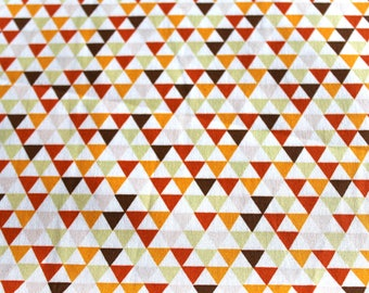 Graphic fabric coupon 50 x 70 cm, ochre, Brown and orange