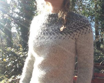 Hand Knitted Icelandic Lopi Sweater, Made to Order. Women's.