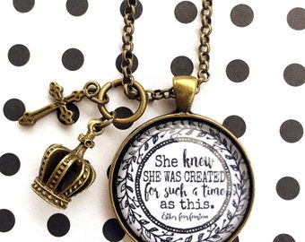 Such a time as this ESTHER Pendant tray necklace