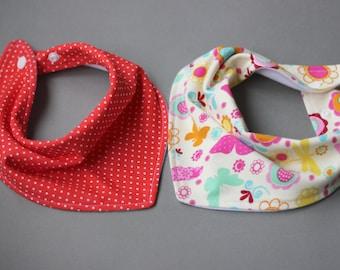 Baby girl bib set, Handmade bib set, Baby bibs handmade, Baby girl bandana bib, Handmade bib, Butterfly bib, Soft cotton bib, Soft baby bib
