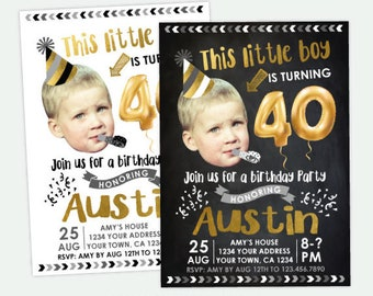 Adult Birthday Invitation for men, Funny Birthday Invitation with photo, 30, 40, 50 Birthday Invitation, Any age Personalized DIGITAL Invite