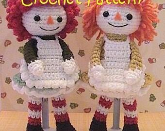crochet Doll pattern, girl rag doll stuffed toy plush crochet tutorial, instant download