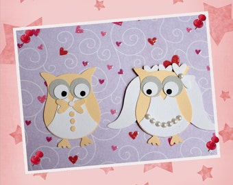 2 stampings - wedding - scrapbooking - OWL