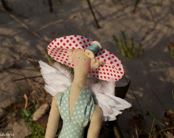 Tilda Doll Princess Needlecraft Blonde Hat Summer