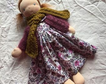 Handmade doll, OOAK doll, Waldorf doll, Steiner doll, 13 inch doll, Natural toys, Organic toys, Doll, Waldorf, Steiner, redhead doll,