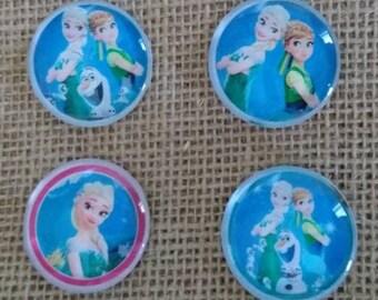 Frozen Magnets - Elsa Magnets - Anna Magnets - Kids Room Magnets