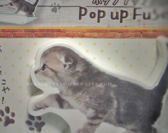 Cute cat sticky notes, post it, school office stationery, index tab, kawaii paper goods, memo pad, page maker marque page id180401