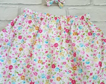 Small floral skirt cotton