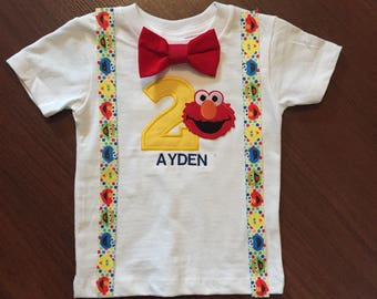 Elmo inspired second birthday baby boy outfit, baby boy 2nd birthday elmo party, baby boy Birthday Party