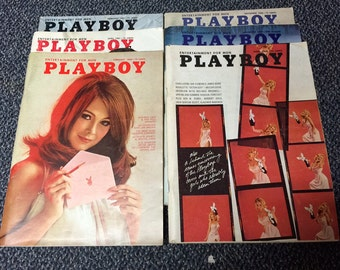 1963-1969 Editions of Playboy Magazine,  FREE SHIPPING  This price is for ONE  issue of your choice from the below list
