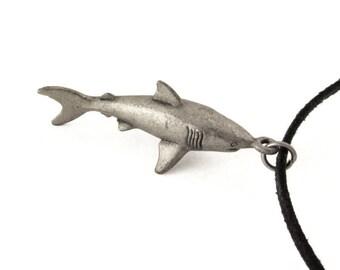 Great White Shark Necklace - Shark Pendant, Scuba Diving, Marine Biology, Shark Jewelry