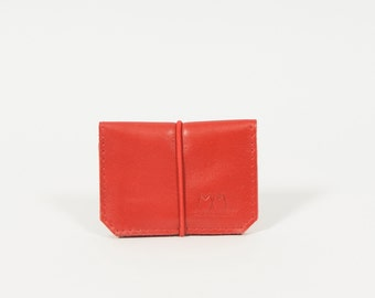 Isaac - red leather wallet
