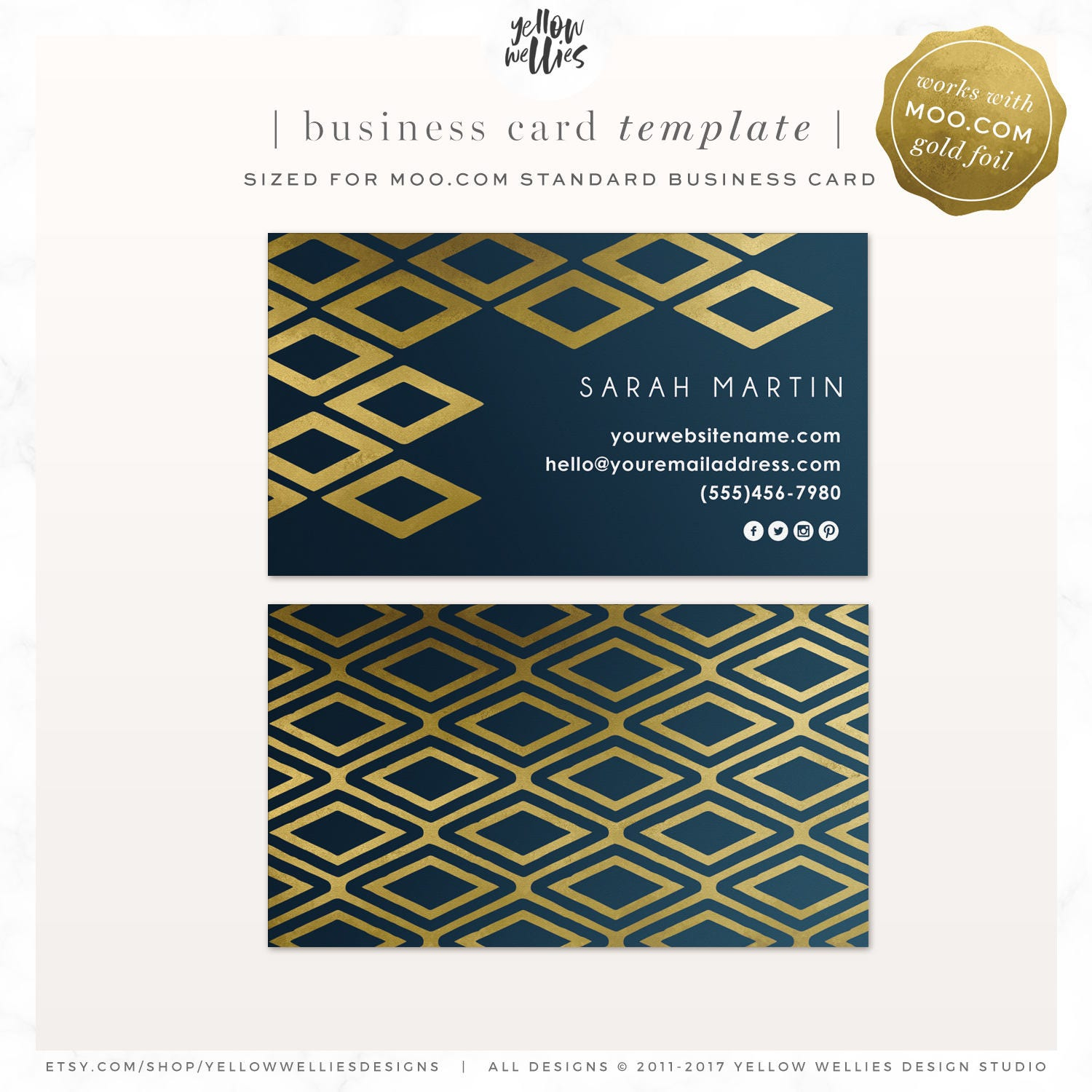 Gold ikat business card diamond business card moo gold zoom reheart Images