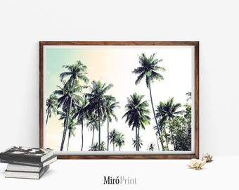 Palm Tree Print, Palm Trees Photo, Palms Wall Art, Tropical Wall Art, Tropical Decor, Palms, Palm Tree Photography Print, Palm Tree Poster