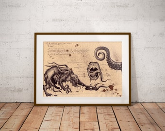 Medium - Shoggoth - Lovecraft Art Print