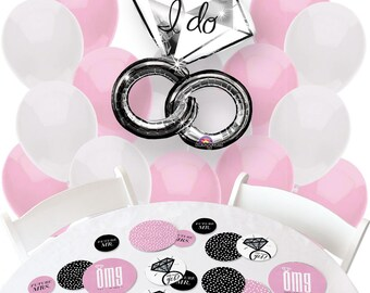 OMG, You're Getting Married - Balloon and Confetti Kit - Print Balloon Bouquet and Confetti Kit for a Engagement Party