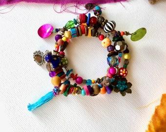 Bracelet Bohemian, Kathmandu, memory, Hippie, Gypsy, Bohemian style, bracelet, Bracelet charm, french Bracelet, hippie bracelet style