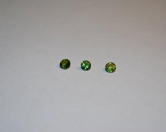3.5 x 3.5 (0.19ct) Medium Green Round Tourmaline Stone